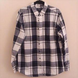 American Eagle plaid prep fit shirt XLT